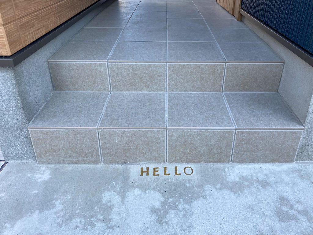 クラフトワン 八女 八女市 工務店 新築 注文住宅 玄関 インターホン 北欧 HELLO